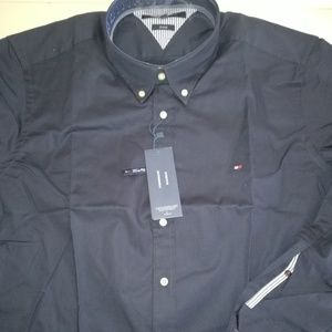 TOMMY HIFIGER DARK BLUE BUTTON DOWN SHIRT MEN